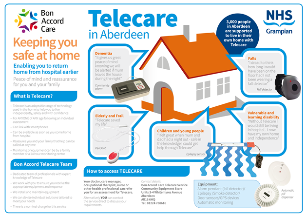 Telecare at Bon Accord Care Aberdeen