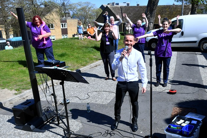 Aberdeen care home residents treated to special outdoor concert to mark VE Day anniversary